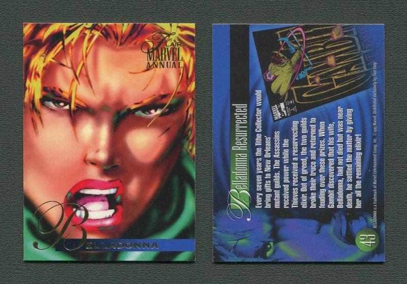 1995 Flair Marvel Annual Card #43 (Belladonna)  MINT