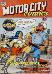 MOTOR CITY COMICS #1, VF+, Underground, Robert Crumb, 1969, 3rd print