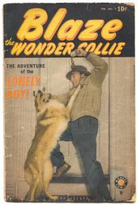 Blaze the Wonder Collie #3 1950- Scarce final issue G/VG