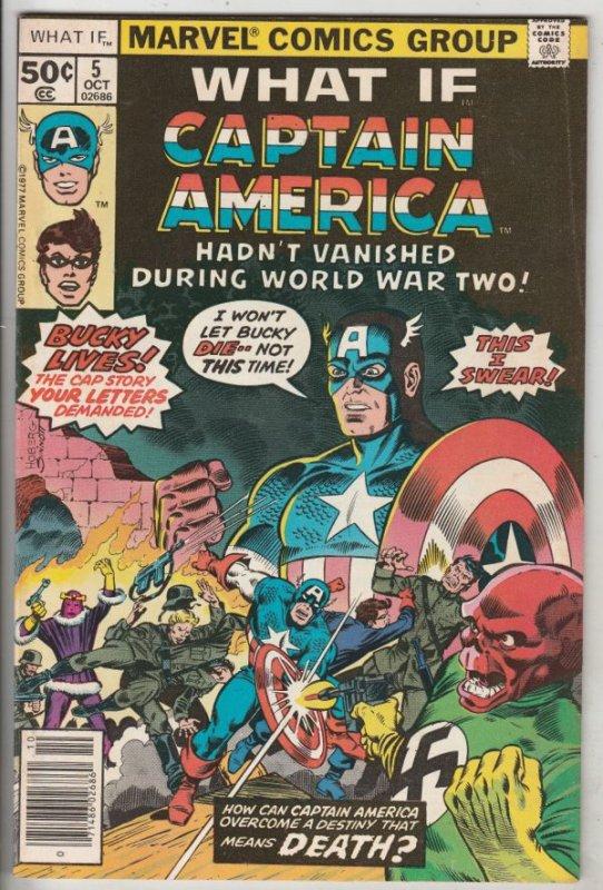 What If #5 (Oct-77) VF/NM High-Grade Captain America, Bucky Barnes