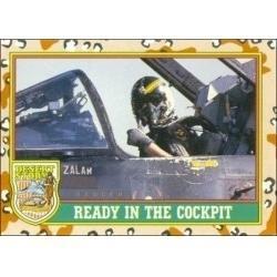 1991 Topps Desert Storm READY IN THE COCKPIT #75