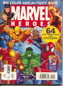 Marvel Heroes Big Color and Activity Book 2005-Meredith Books-1st edition-Hul...