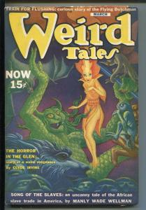 WEIRD TALES 03/1940-HANNES BOK-H.P. LOVECRAFT-SEABURY QUINN-WELMAN-vf minus