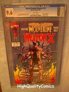 MARVEL COMICS PRESENTS 72, CGC 9.6, NM+, Weapon X, Wolverine, more CGC in store