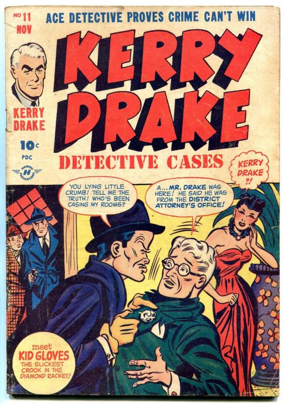 Kerry Drake Detective Cases #11 1948- Bob Powell- Golden Age Crime VG+