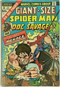 GIANT-SIZE SPIDER-MAN#3 GD/VG 1974 MARVEL BRONZE AGE COMICS