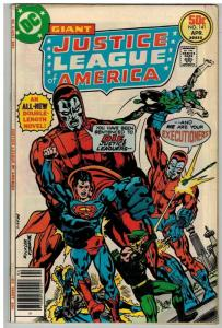 JUSTICE LEAGUE OF AMERICA 141 VG-F April 1977