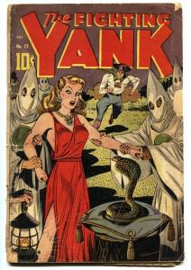FIGHTING YANK #23 1948 Golden-Age HOODED MENACE/SNAKE cvr missing CFL