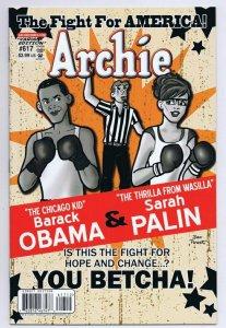 Archie Comics #617 Barack Obama Sarah Palin Variant 2011