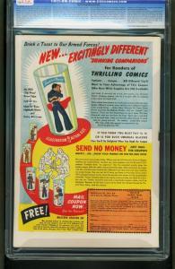 THRILLING COMICS #36 1943-CGC GRADED 9.4-SCHOMBURG -1st COMMANDO CUBS 0916755005