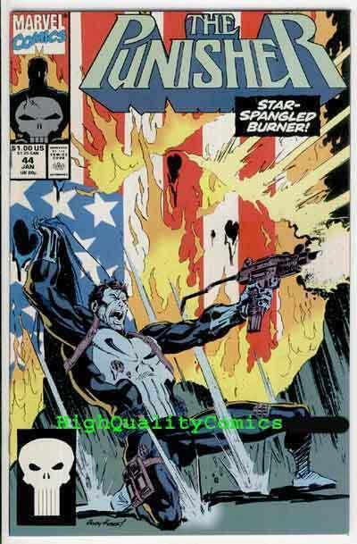 PUNISHER #44, NM+, Mike Baron, Flag Burner, Blood,1987, more in store
