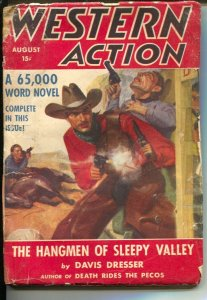 Western Action 8/1941-Double Action-Hangman of Sleepy Valley-violent pulp fic...