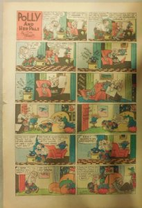 Polly and Her Pals Sunday by Cliff Sterrett from 9/10/1944 Tabloid Size !
