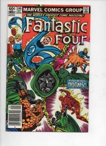 FANTASTIC FOUR #246, VF+, Dr Doom, Byrne, 1961 1982, Marvel, more FF in store