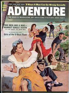 Adventure Magazine August 1960- Girls of the Uboat fleet- Scilla Gabellini VF/NM