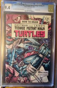 HOW to DRAW the TEENAGE MUTANT NINJA TURTLES #1, CGC = 9.4, NM, 1986, Eastman