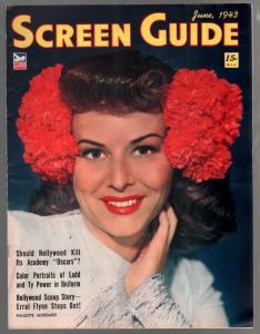 Screen Guide 6/1943-Paulette  Goddard-James Cagney-Jinx Falkenberg-VF-