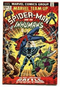 Marvel Team-Up #11 1973-SPIDER-MAN / INHUMANS VF+