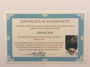 NEW MUTANTS #8 - Signed by Cover Artist Bob McLeod w/COA
