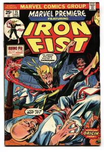 MARVEL PREMIERE #15 comic book-1st IRON FIST-MARVEL KEY ISSUE
