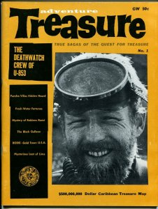 Treasure Adventure #1 1960-1st issue-Pancho Villa-Caribbean Treasure Map-VF