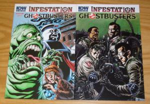 Ghostbusters: Infestation #1-2 VF/NM complete series - kyle hotz B variants set