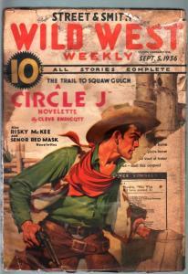 WILD WEST WEEKLY-9/5/1936-PULP-SENOR RED MASK FR