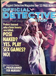 Official Detective Magazine April 1972- Nurse cover- True Crime VG