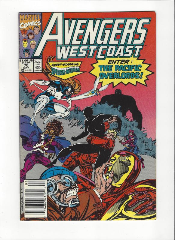 Avengers West Coast #70 Pacific Overlord NM