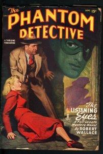 PHANTOM DETECTIVE-SEPT 1948-WEIRD TERROR--HARDBOILED PULP HERO--ROBERT WA VG