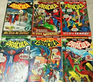 TOMB OF DRACULA#2-12 VG-FN LOT 1972 (6 BOOKS) MARVEL BRONZE AGE COMICS