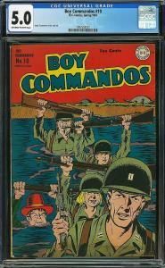 Boy Commandos #10 (DC, 1945) CGC 5.0