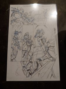 TRANSFORMERS ORIGINAL COMIC BOOK ARTWORK: Drift - Empire of Stone issue 4 PAGE 5