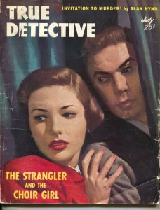 True Detective-7/1951-Crime Pulp-Strangler And The Choir Girl