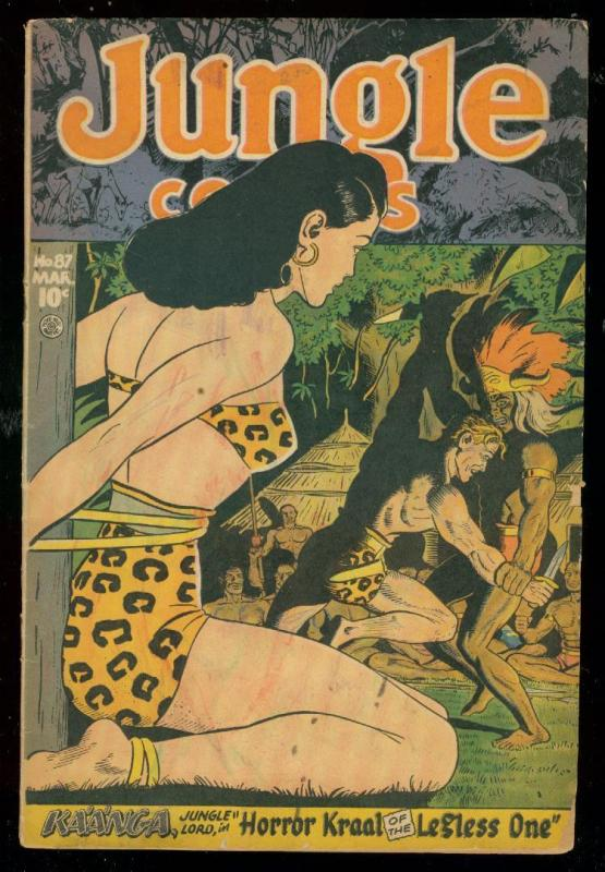 JUNGLE COMICS #87 1947-KAANGA-SPICY  COVER-WAMBI G