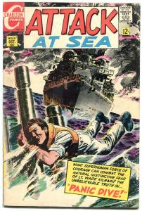 Attack at Sea #5 1968- Charlton Comics- Panic Dive VG/F