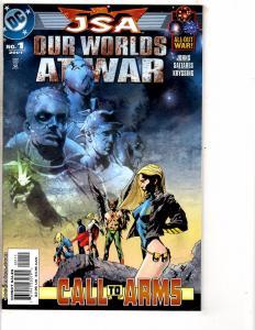 Lot Of 3 Our Worlds At War DC Comic Books # 1 JSA, Batman, Wonder Woman J209