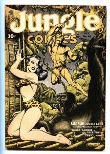Jungle Comics #46-Fanged ape menacing jungle babe on cover-Comic Book 1943