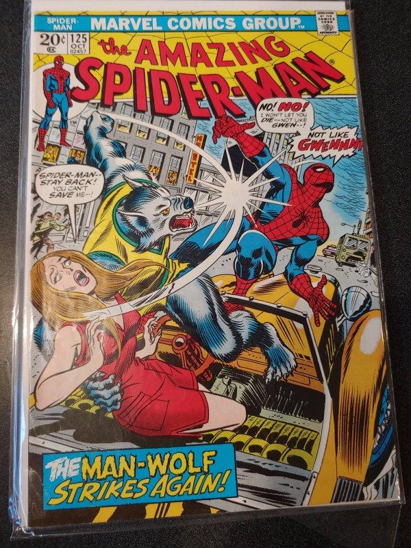 Amazing Spider-Man 125 2nd x MAN WOLF! high grade vf+