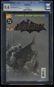 Batman (2005) #1 CGC NM 9.4 White Pages German Variant Comic Shop Edition!
