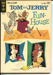 Tom and Jerry Fun-House #214 1965-2nd  Gold Key issue-Giant-rare-FN