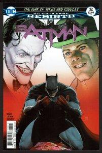 Batman #32 Rebirth (Dec 2017, DC) 0 9.0 VF/NM