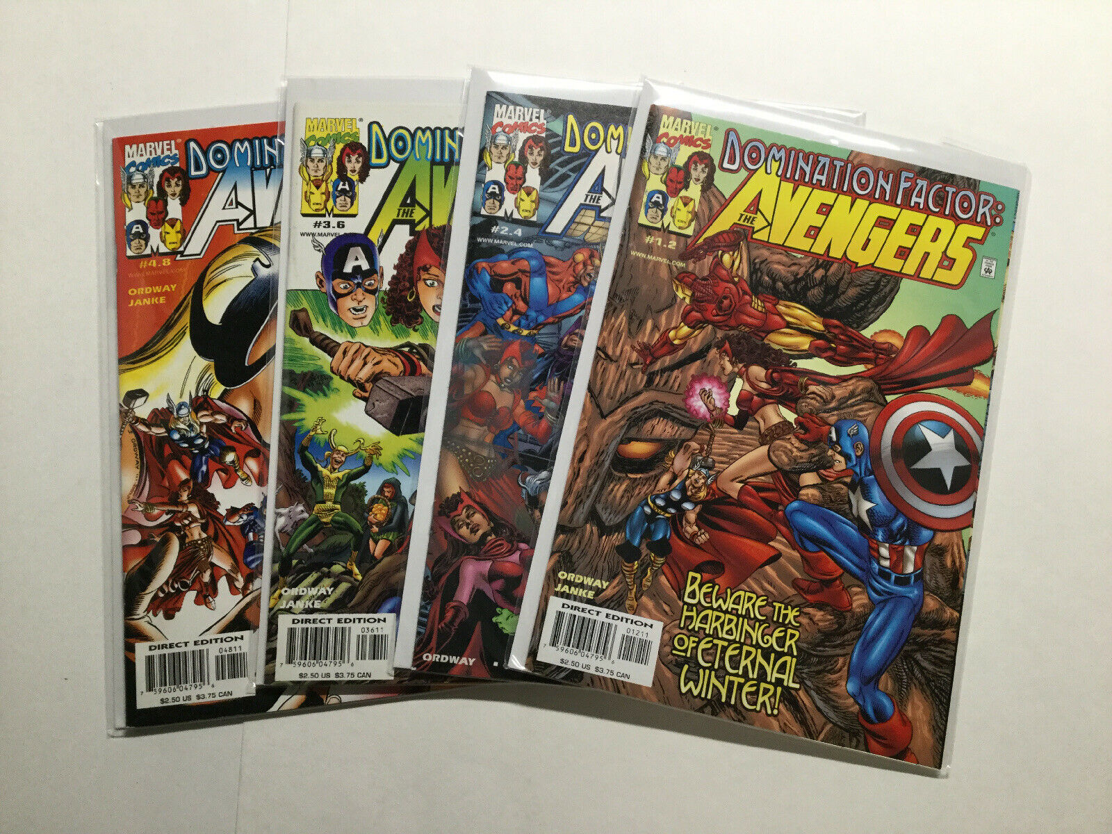 AVENGERS DOMINATION FACTOR #1-4 NEAR MINT SET 1999