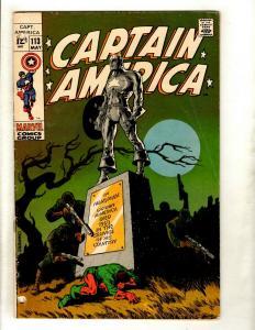 Captain America # 113 GD Marvel Comic Book Avengers Hulk Thor Iron Man GK2