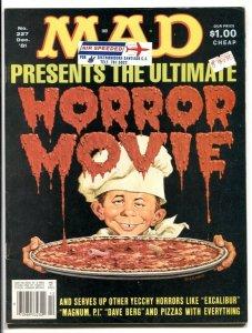 Mad Magazine #227 1981- HORROR MOVIES- Magnum PI FN