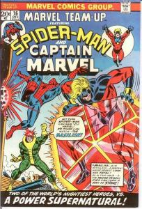 MARVEL TEAM UP 16 VF CAPTAIN MARVEL  (Inked) COMICS BOOK