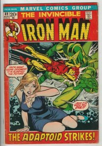 Iron Man # 49 Strict FN/VF Appearance The Adaptoid!