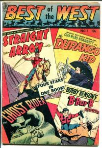Best Of The West #1 1951-ME-1st issue-Ghost Rider-Durango Kid-Canadian-FR/G