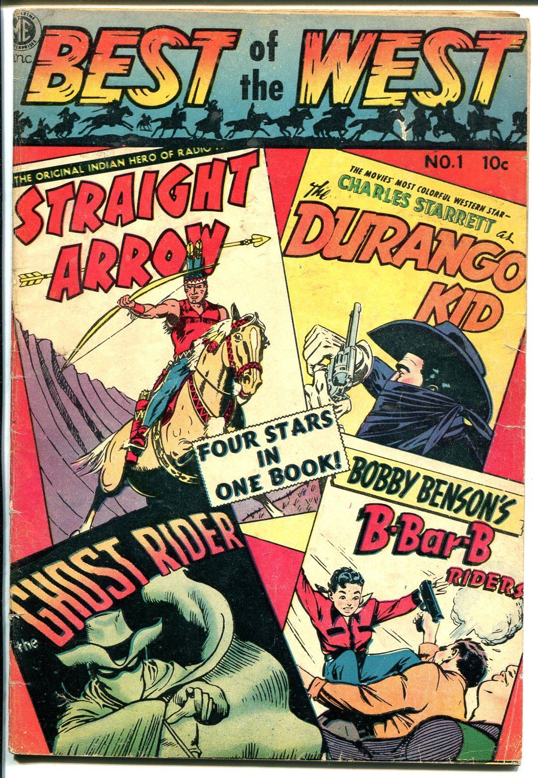 Best Of The West #1 1951-ME-1st issue-Ghost Rider-Durango