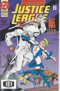 Justice League Europe #38 (May 1992) - Batman, Aquaman, Flash, Power Girl